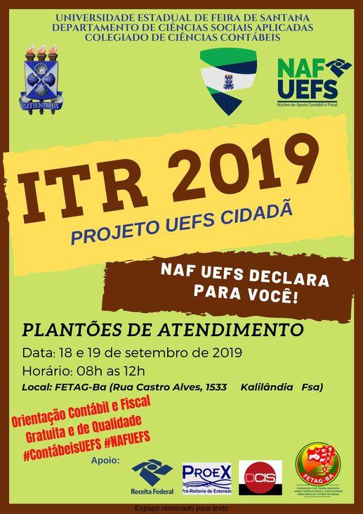Plantões ITR 2019